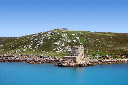 scilly: Cromwell�s castle and King Charles castle, Isles of Scilly, Cornwall.