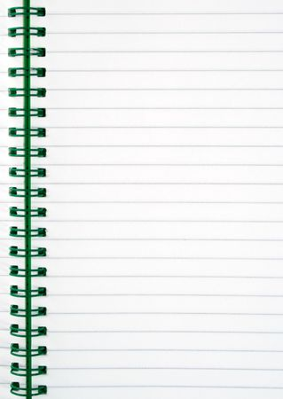 An inside page of a notepad. photo