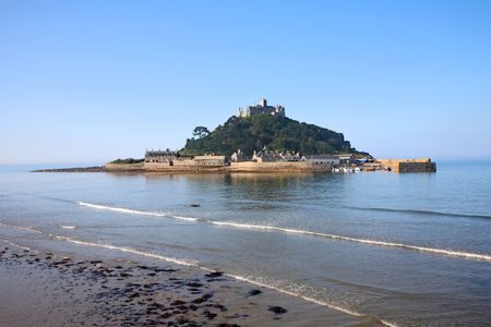 cornwall: St. Michael�s Mount on a calm morning, Cornwall, UK. Stock Photo