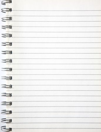 bind: A blank page of an old notebook.