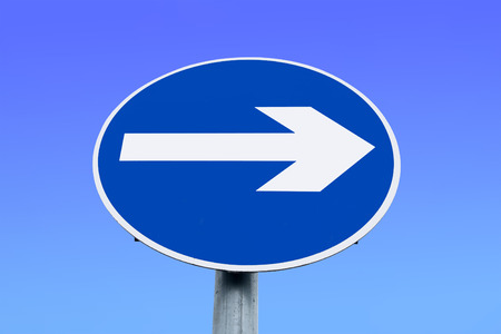Irish, right turn only one way road sign. Stock Photo - 1416903