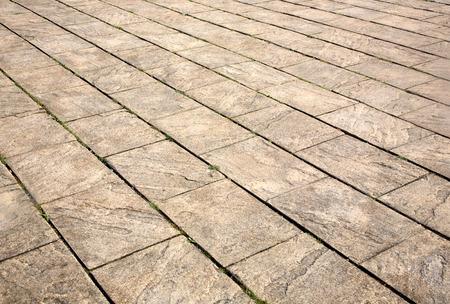 lajas: Patio pavimentaci�n de losas de cerca.