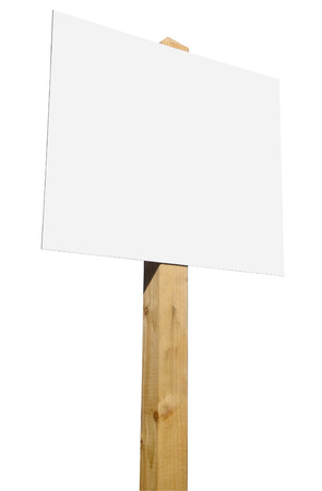 A blank for sale sign on a white background. Stock Photo - 1705352