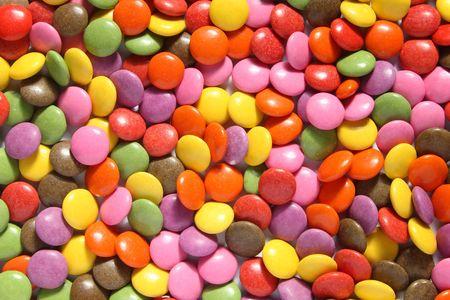 smarties: Lots of colorful smarties.
