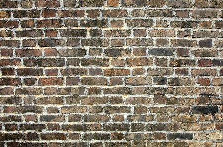 regular: A very old brick wall close up background. Stock Photo