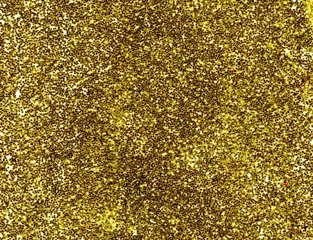 A macro close up of a gold glitter background. Stock Photo - 1896436