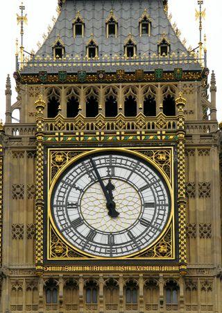Close up of a Big Ben clock face. photo