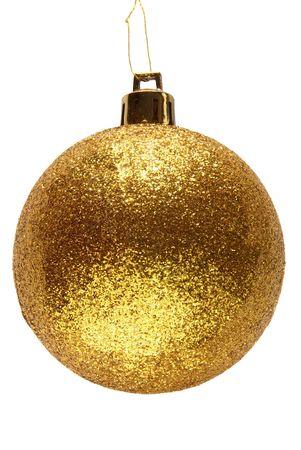 Glitter oro Natale bauble palla.