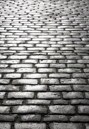 Wet cobblestones, St. Ives, Cornwall UK.