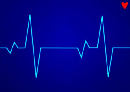 heart ecg trace: Electronic cardiogram ECG heart beat trace on a monitor.