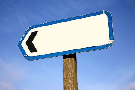 Old left pointing directional signpost. Stock Photo - 3048584