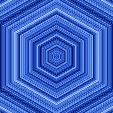 decreasing in size: Blu esagonale forme di fondo. Archivio Fotografico