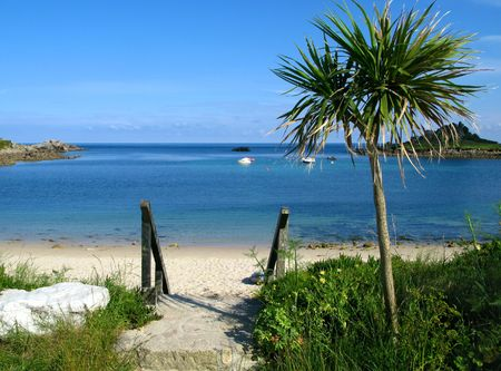 Old town beach in St. Marys, Isles of Scilly.