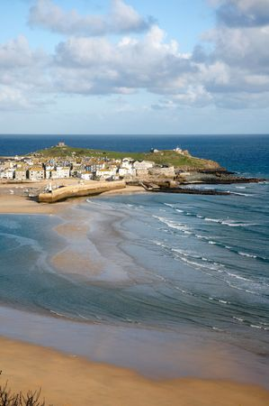 St. Ives at low tide, Cornwall UK.