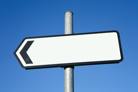 Left pointing direction sign with space for text. Stock Photo - 4084838