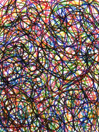 Felt tip pen colorful scribbles abstract pattern. photo