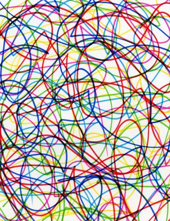 felt: Abstract colorful felt tip pen scribbles close up.