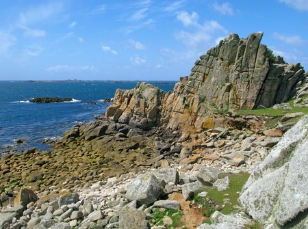 scilly: St. Agnes and Western Rocks, Isles of Scilly. Stock Photo