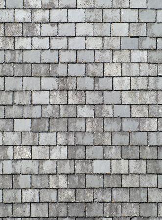 arduvaz: Old gray roof slates close up.
