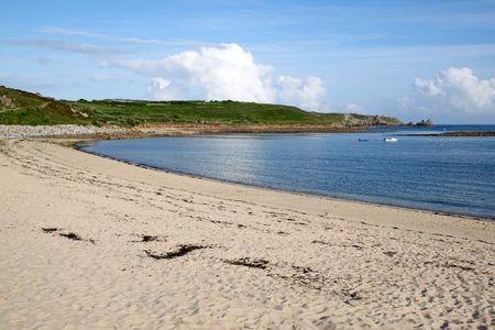 Porthcressa beach, St. Mary's Isles of Scilly, Cornwall UK. Stock Photo - 5244622