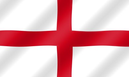 rippling: English St. George flag blowing in the wind  illustration.