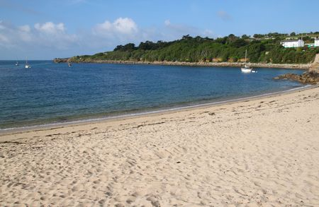Porthcressa beach, St. Mary's Isles of Scilly, Cornwall UK. Stock Photo - 5289339