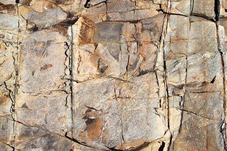primer plano cara: Gran superficie de la roca erosiona cerca.