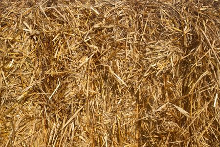 Close up of a straw bale. photo