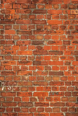 Colorful old British red brick wall background. photo