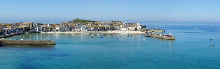 A panoramic view of St. Ives harbour in Cornwall, UK. Stock Photo - 7102626