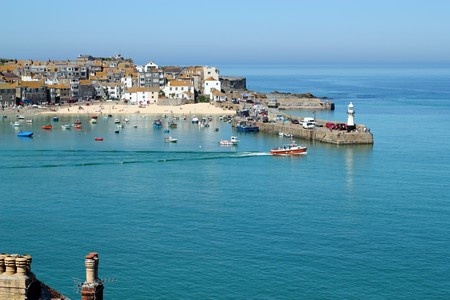 St. Ives harbour still sea, Cornwall UK. Stock Photo - 7137270