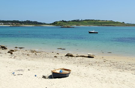 scilly: Green bay beach, Bryher Isles of Scilly.