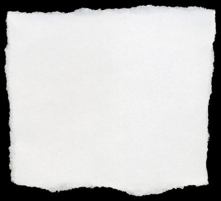 bordure de page: Carr� d�chir� blanc de papier isol� sur un fond noir.