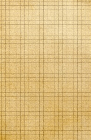 yellowing: Old yellowing square paper grid close up. Stock Photo