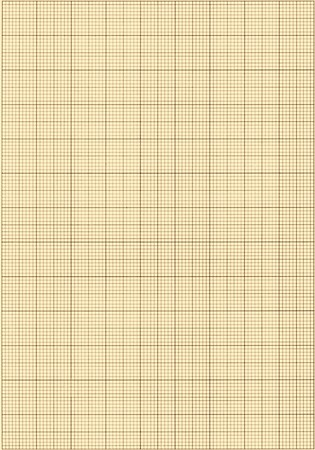Old sepia graph paper square grid background. Stock Photo - 7535933