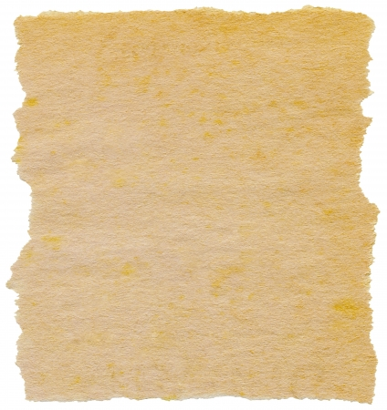 Old torn paper isolated on a white background. Stock Photo - 7625873
