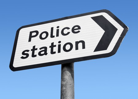 British Police station sign.