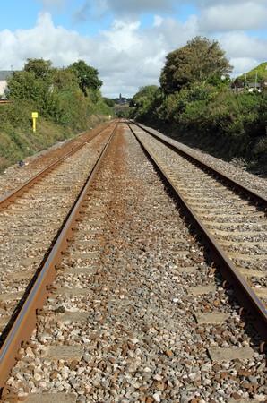 railtrack: Two British railway line tracks.