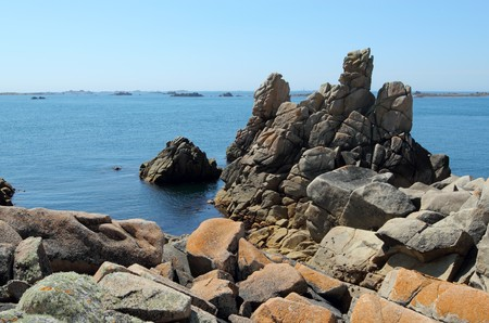 scilly: St. Agnes and Western Rocks, Isles of Scilly, Cornwall UK.