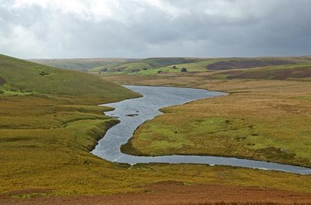 elan: The river Elan flowing in to Craig Goch reservoir, Elan Valley Wales.