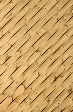 Wooden decking planks close up. photo