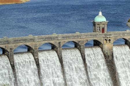 Craig Goch reservoir dam close up, Elan Valley, Wales. Stock Photo - 9241984