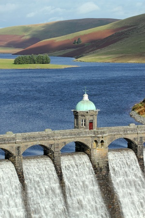 Craig Goch reservoir dam close up, Elan Valley, Wales. Stock Photo - 9241963