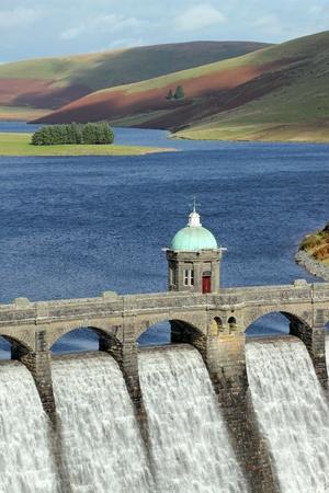Craig Goch reservoir dam close up, Elan Valley, Wales. Stock Photo - 9241963