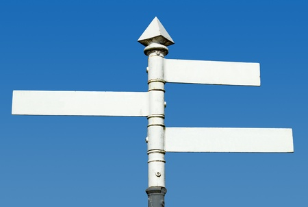 Old fashioned English 3 way blank direction signpost.  Stock Photo - 9616750
