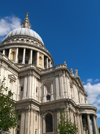 st  paul   s cathedral: Close up of St Paul s Cathedral in London UK