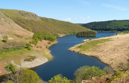 elan: PenyGarreg reservoir in the Elan Valley Wales UK. Stock Photo