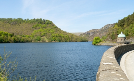 elan: Garreg Ddu reservoir, Elan Valley, Powys Wales UK. Stock Photo