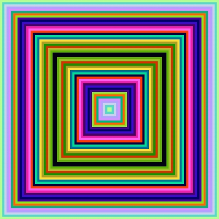 decreasing in size: Decreasing size colorful square frames seamless abstract background