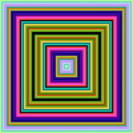 decreasing in size: Dimensioni decrescenti piazza cornici colorate senza soluzione di continuit� sfondo astratto Archivio Fotografico